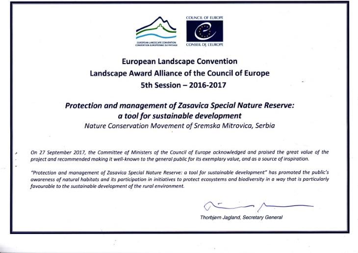 Diploma Svet Evrope nagrada slika